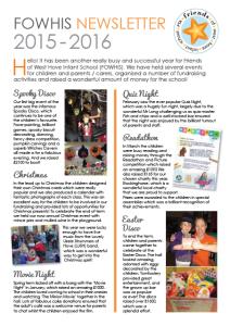 FOWHIS Newsletter 2015-2016 thumbnail