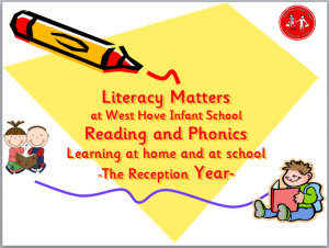 Literacy Matters at West Hove Infant School