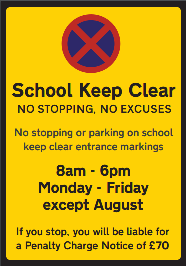 School Keep Clear Sign Thumbnail