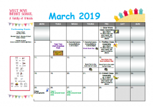 March 2019 Newsletters and Calendars   West Hove